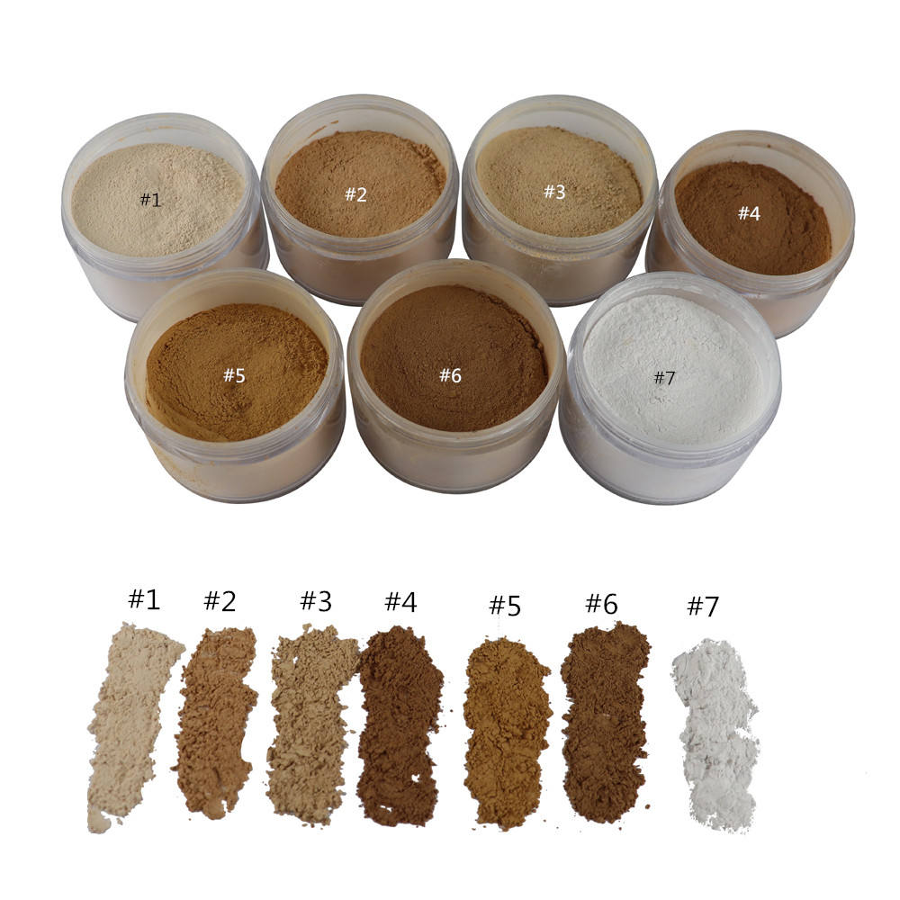 Private Label Face Makeup Translucent Loose Powder Custom Logo 7 Colors Matte Foundation Oil control setting Loose Powder