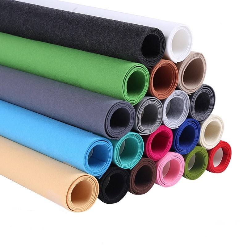 1mm 2mm 3mm 5mm 20mm needle punched non woven polyester felt fabric rolls