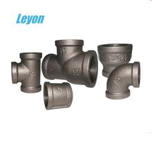 Black malleable iron pipe fittings 3/4 30R/equal tee/240/220 socket 90 degree elbow
