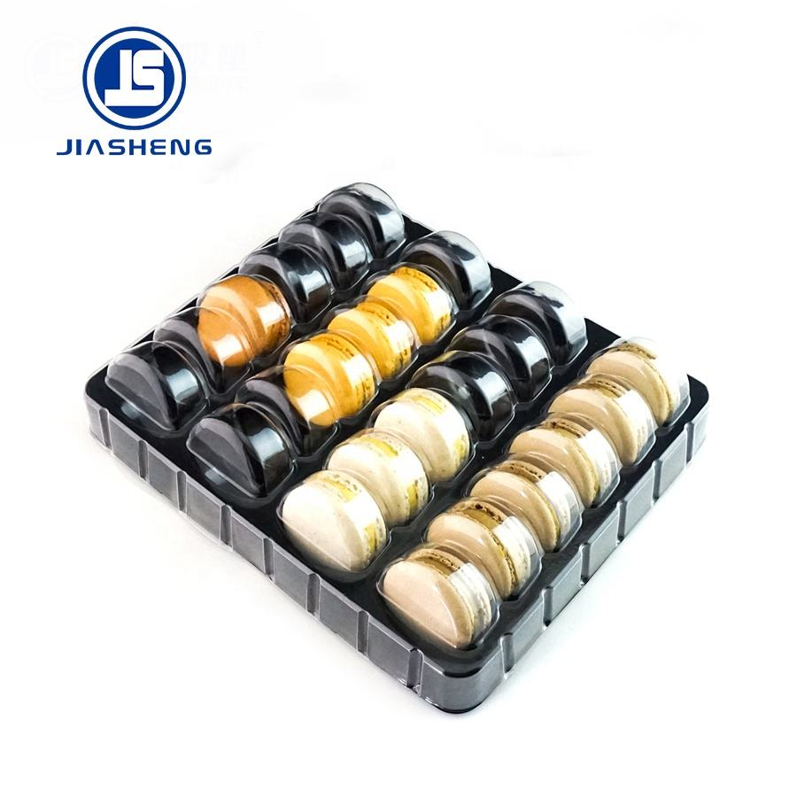 24pcs Plastic Blister Macaron Tray With Lid