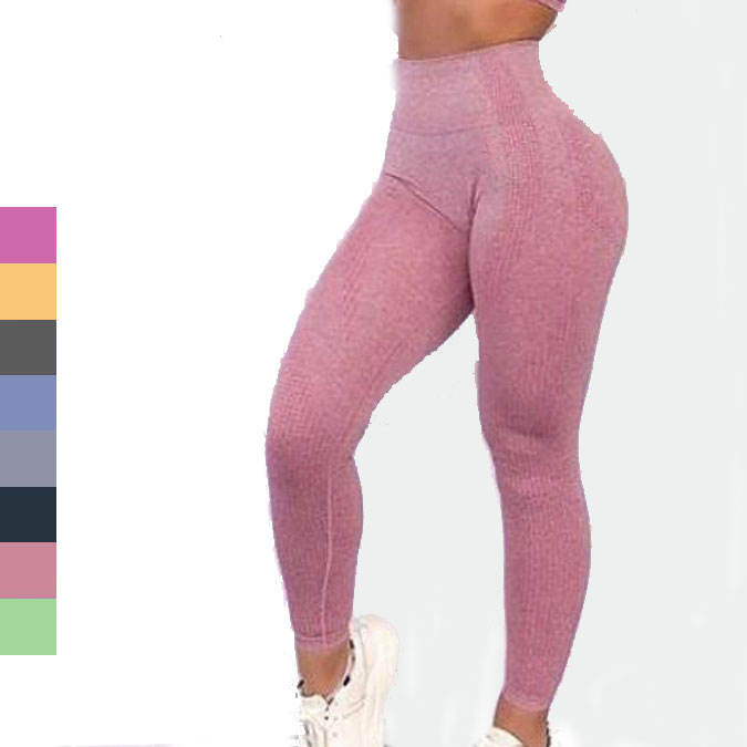 Hot fitness leggings wholesale manufacturer high elastic seamless yoga pants leggings