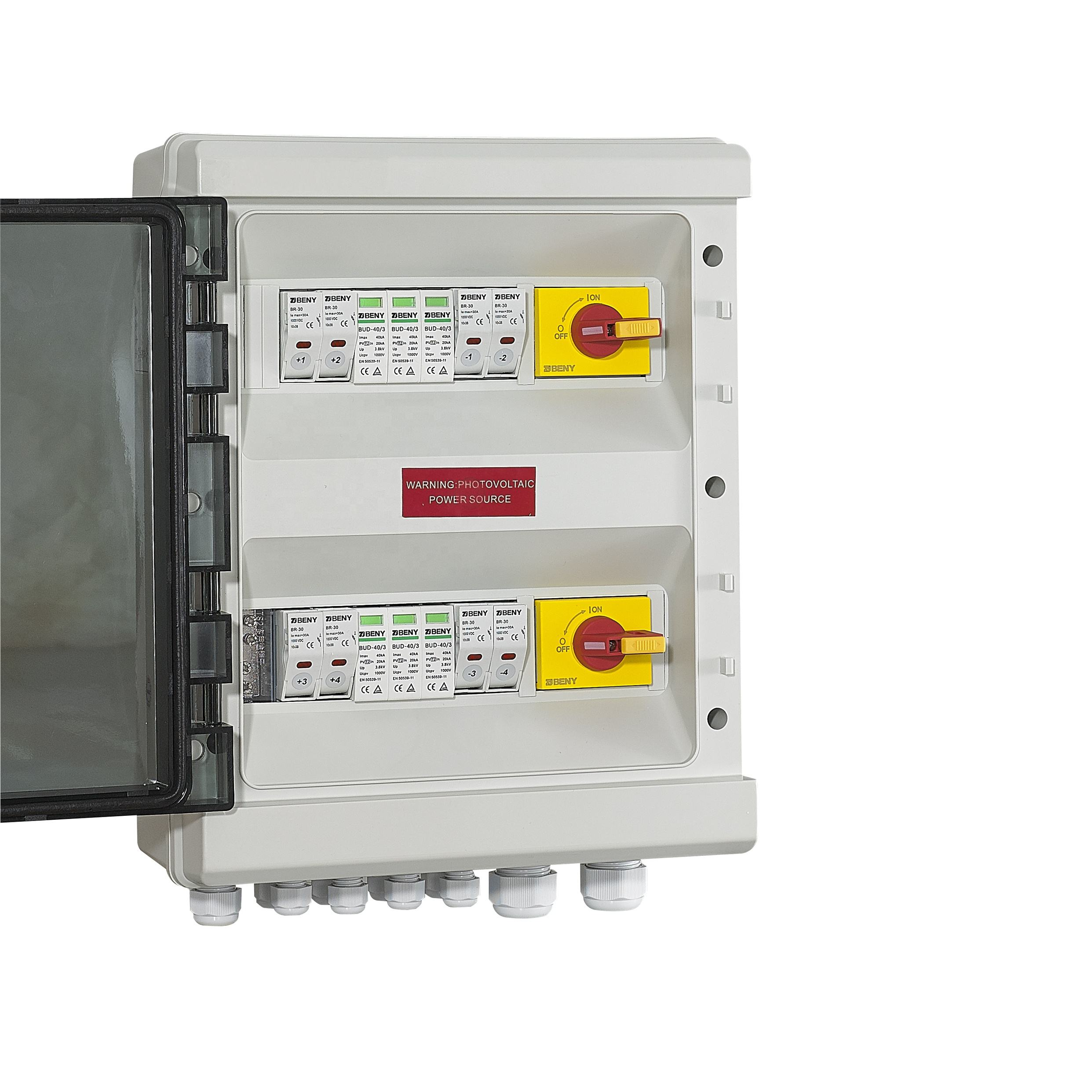 4 in 2 out DC Combiner Box for solar PV application