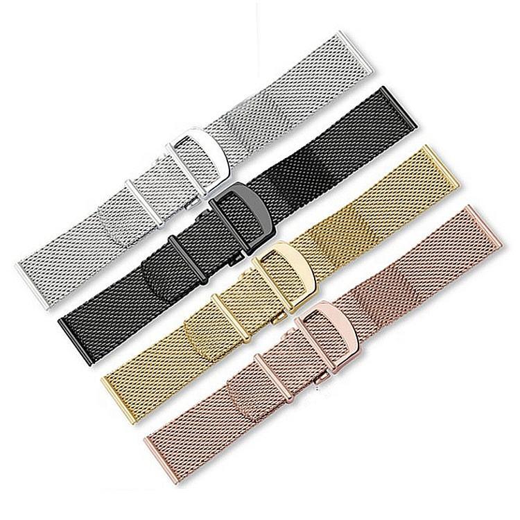 Custom 20mm 22mm Shark Brushed Link Mesh Watch Bracelet Milanese Strap Band