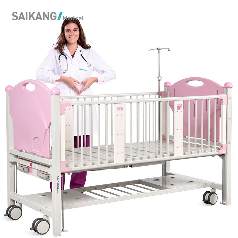 CX2x Saikang Metal Baby Hospital Kids Portable Bed For Sale