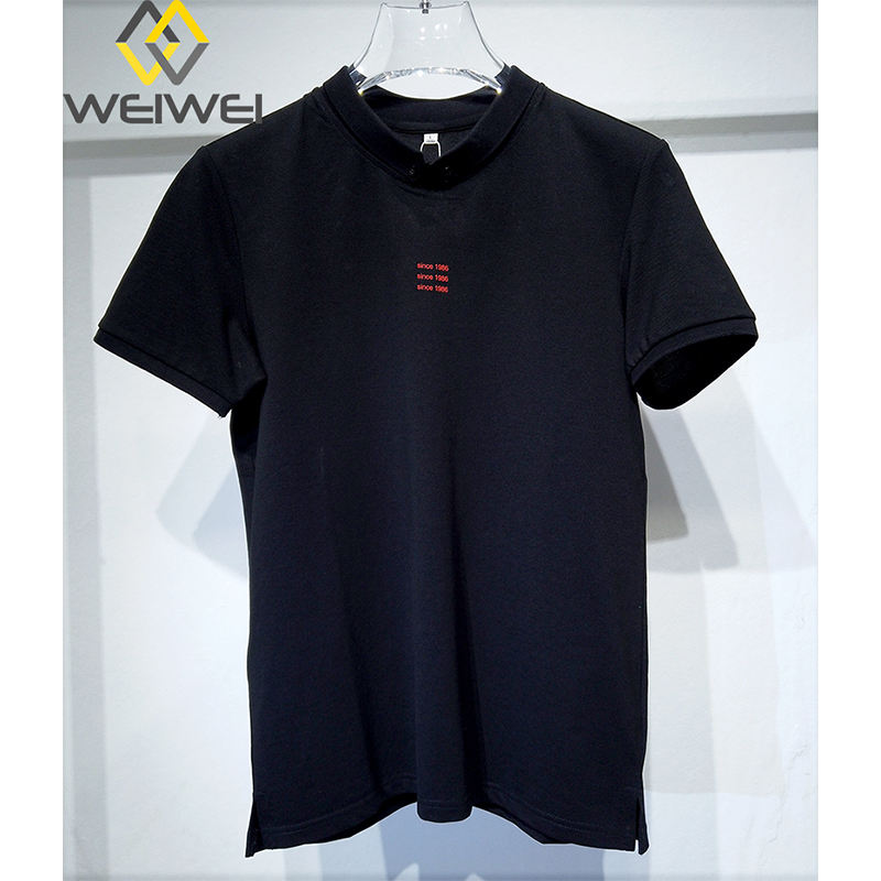 China supplier Fancy V-neck Print Casual Double Sleeve T-shirts