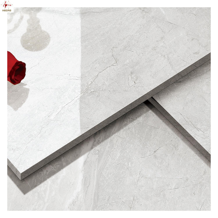 New !! fashion 80X80cm Natural grey marble looks Porcelanato Polished Rectified Porcelain Tile for foor