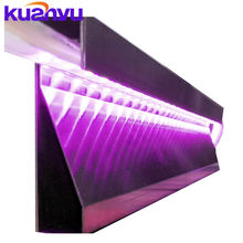 Factory direct sale high quality 304 7C laser cut film stainless steel light skirting wall board