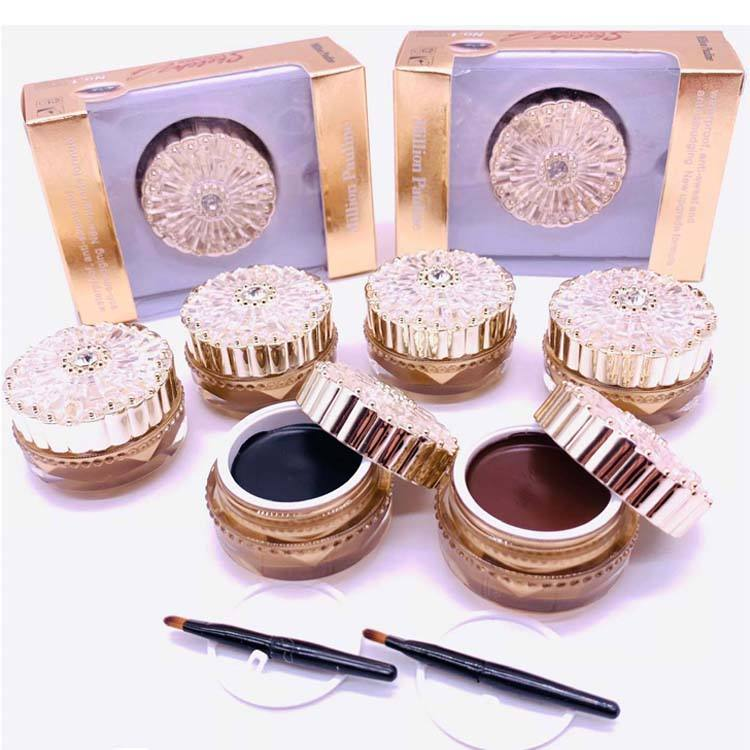 Long Lasting Cosmetics Eye Liner Gel Top Brand Waterproof Black and Brown Eyeliner Cream Makeup