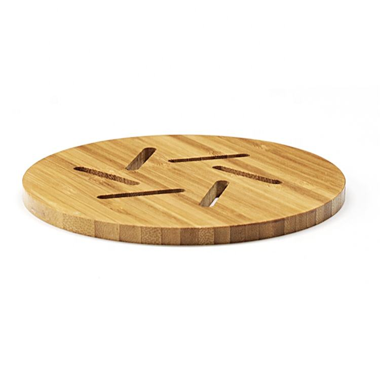 Heat resistant bamboo pot holder hot pad coaster for kitchen