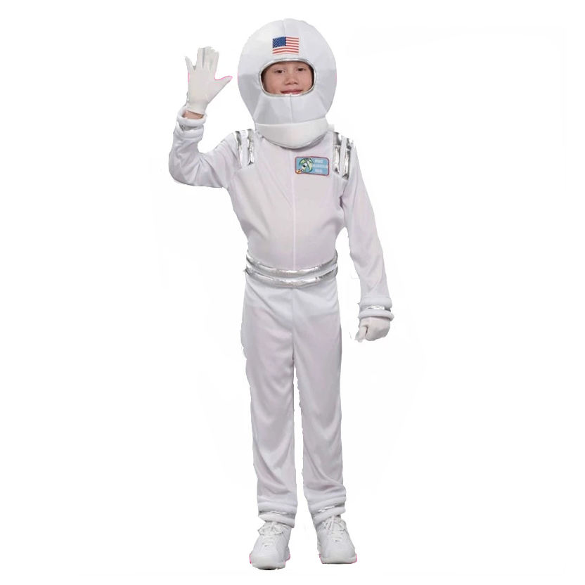 Little Children boys astronaut costumes latex Children Cosplay Clothing spaceman costumes