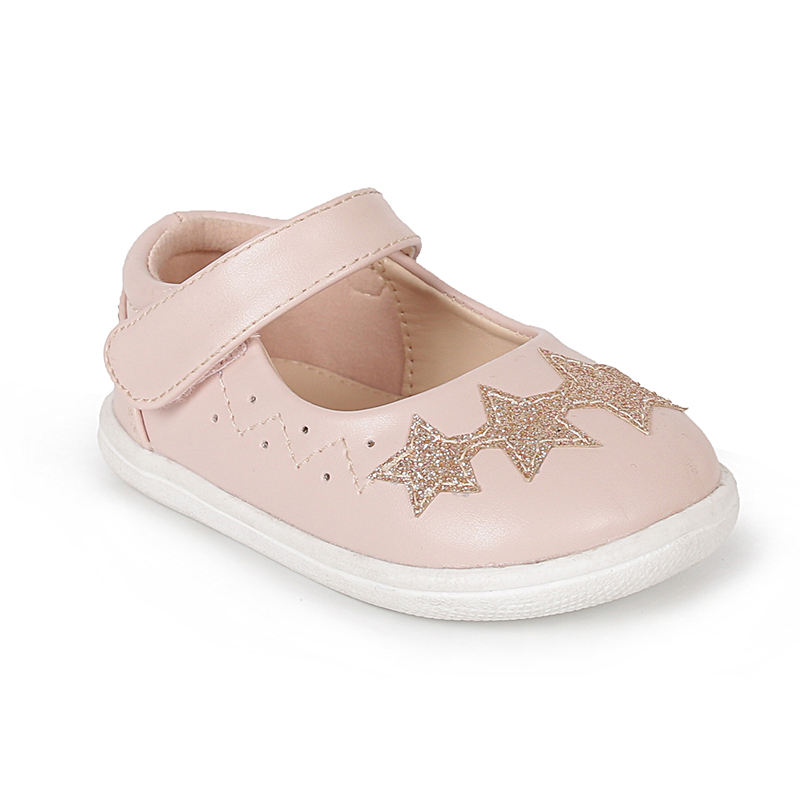 Wholesale latest design boy girl kids flat shoe Casual Shoes The pattern of five-pointed star is lovely children's shoes