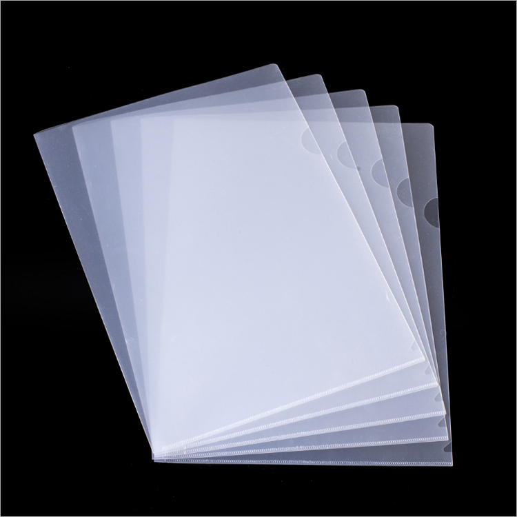 new product pp matte sheet protector L shape folder