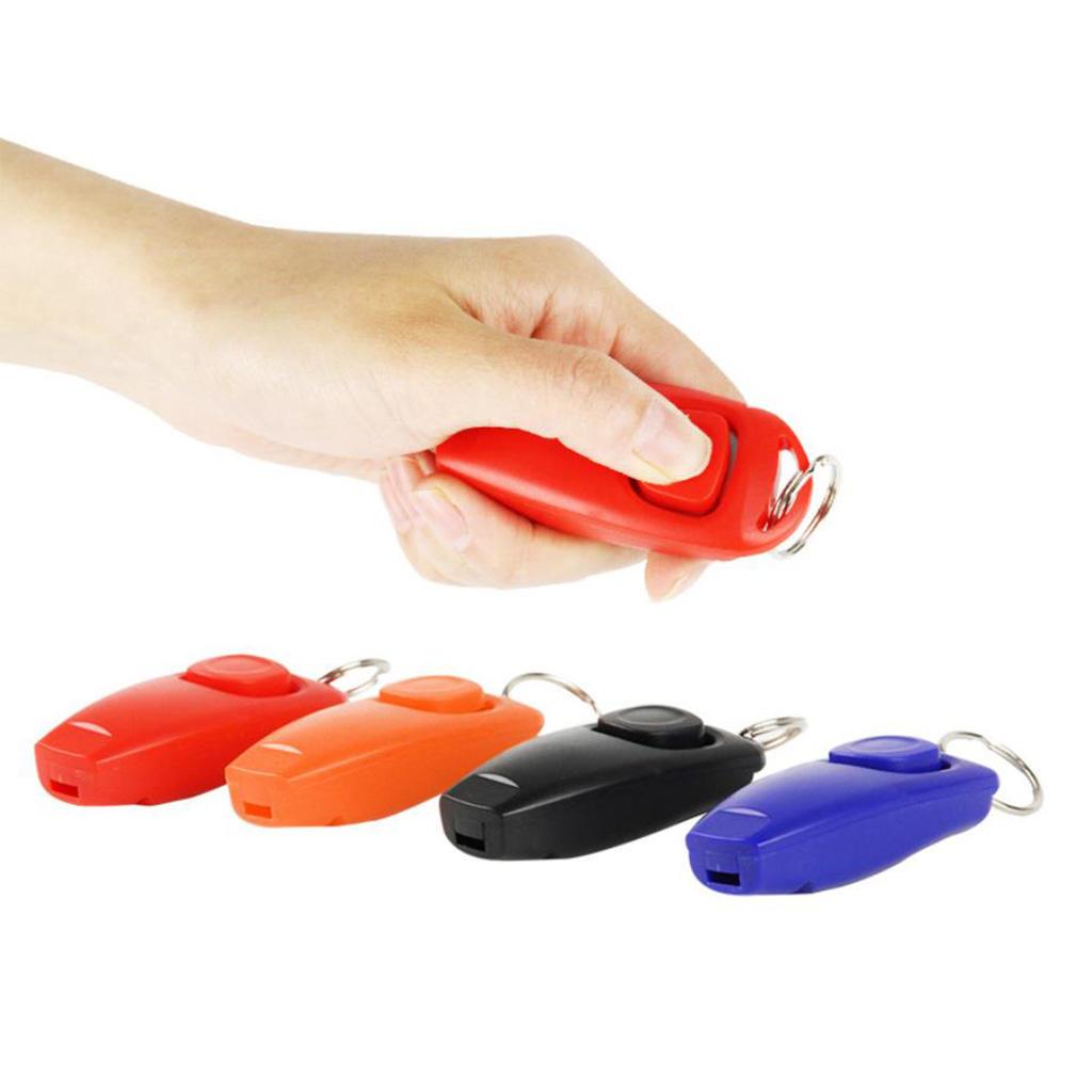 2 en 1 clicker de entrenamiento de plástico para perros y mascotas con silbato