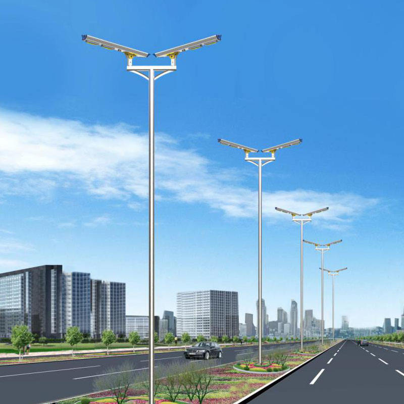 20 years warranty Q235 solar street light pole