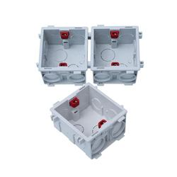 Wall 86*86mm Switch Housing PVC Surface auto jionted Electri