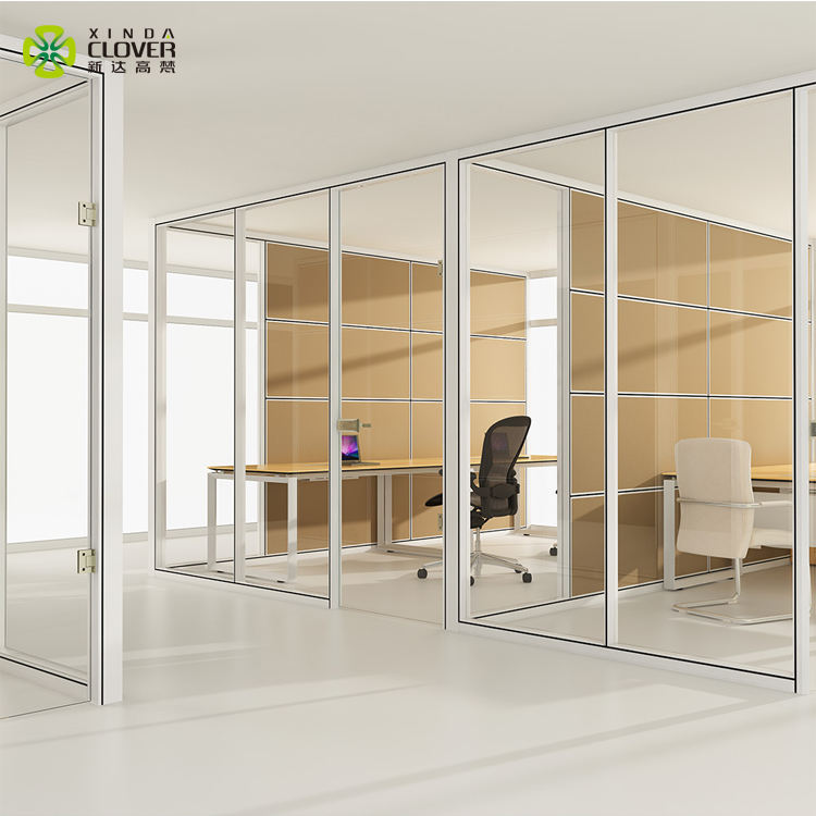 Modern design room partition office 12mm glass partition wall HK85
