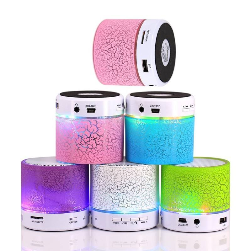 Free shipping A9 Bluetooth Portable Speaker 6 Color Mini Wireless Loudspeaker LED TF USB Subwoofer mp3 stereo audio music player