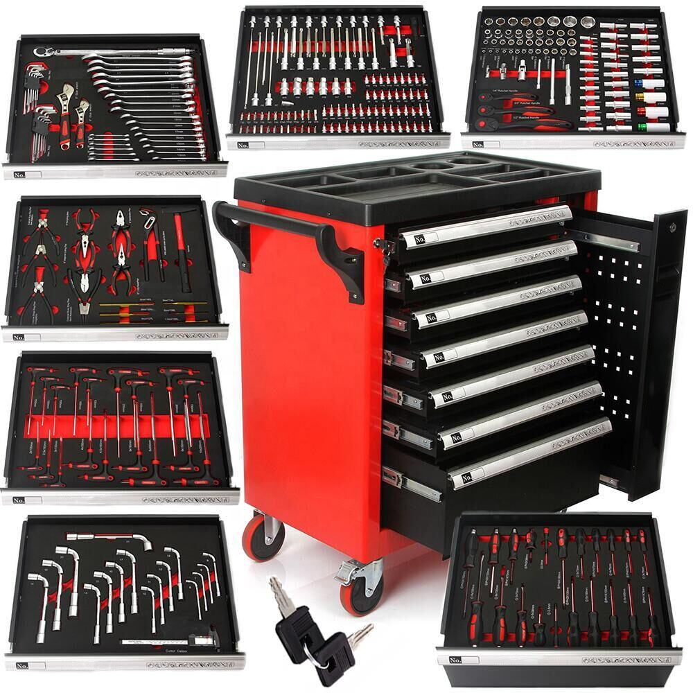 298pcs Metal Garage Tool Cabinet with Workshop Hand Tools