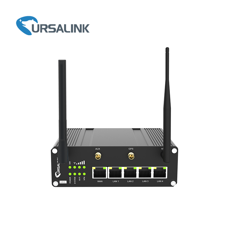 UR35 Router Industrial RS232 RS485 serie 4G LTE Ethernet Router para cajero automático