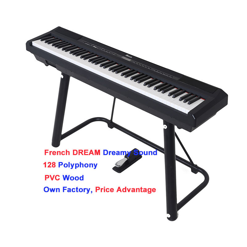 Portable 194 multifunction digital piano 88 keys hammer action keyboard piano digital keyboards