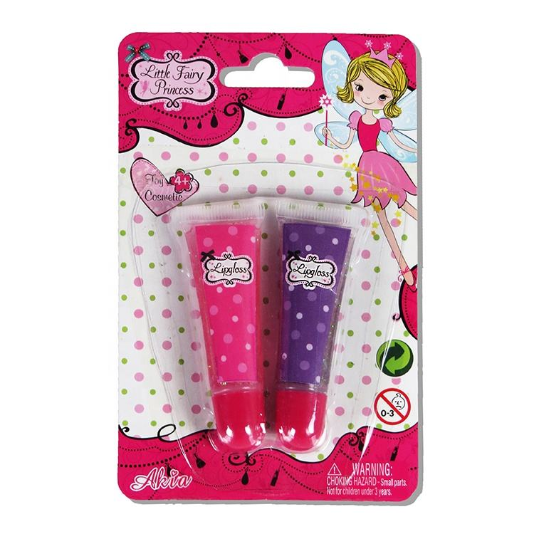 Kids Cosmetic Set Toy Private Label Pink And Purple Liquid Kids Lip Gloss For Girls