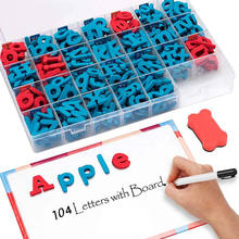 104 Pcs high quality educational eva foam alphabet and number magnetic letters toys for toddlers