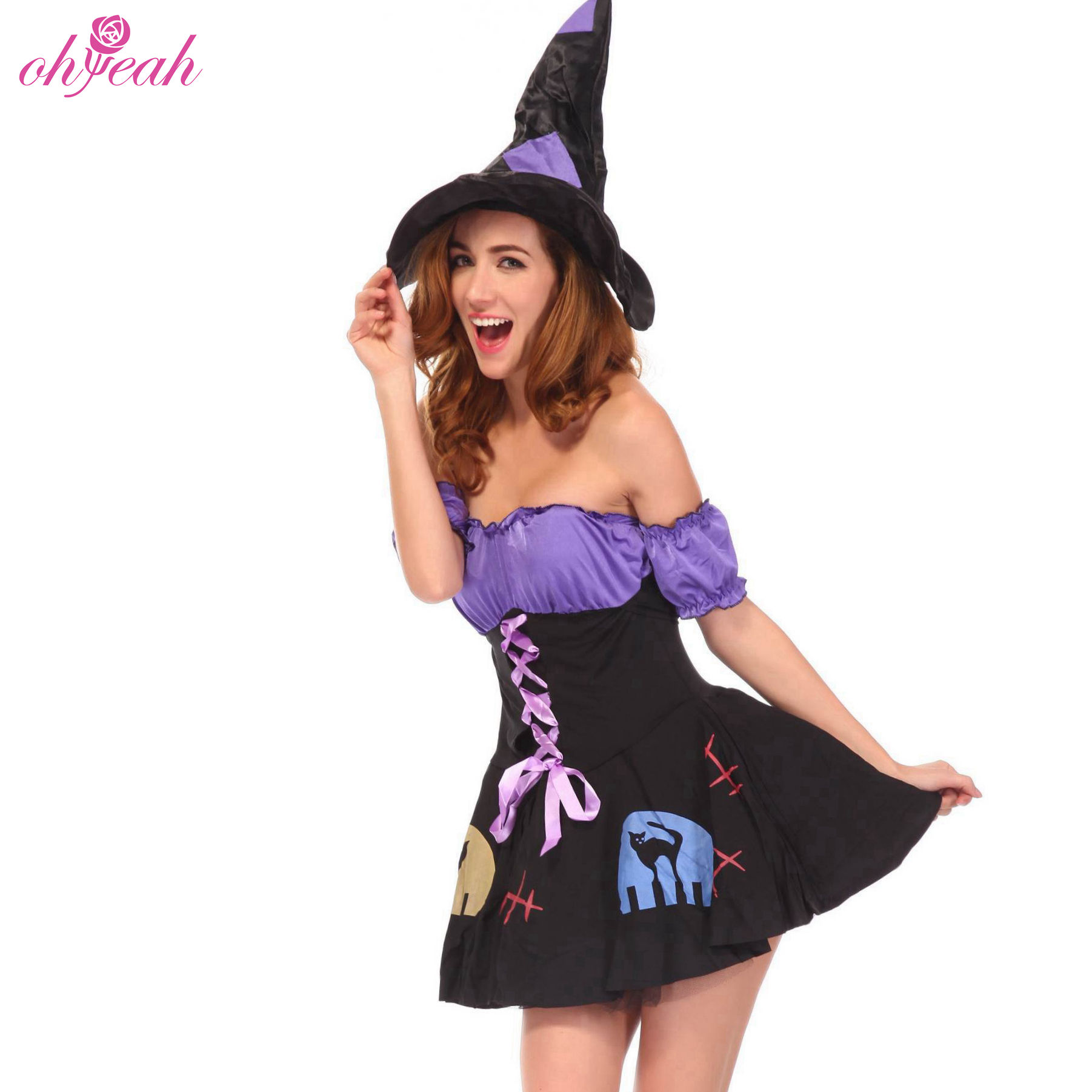 Private label in stock sexy halloween costume for adults women