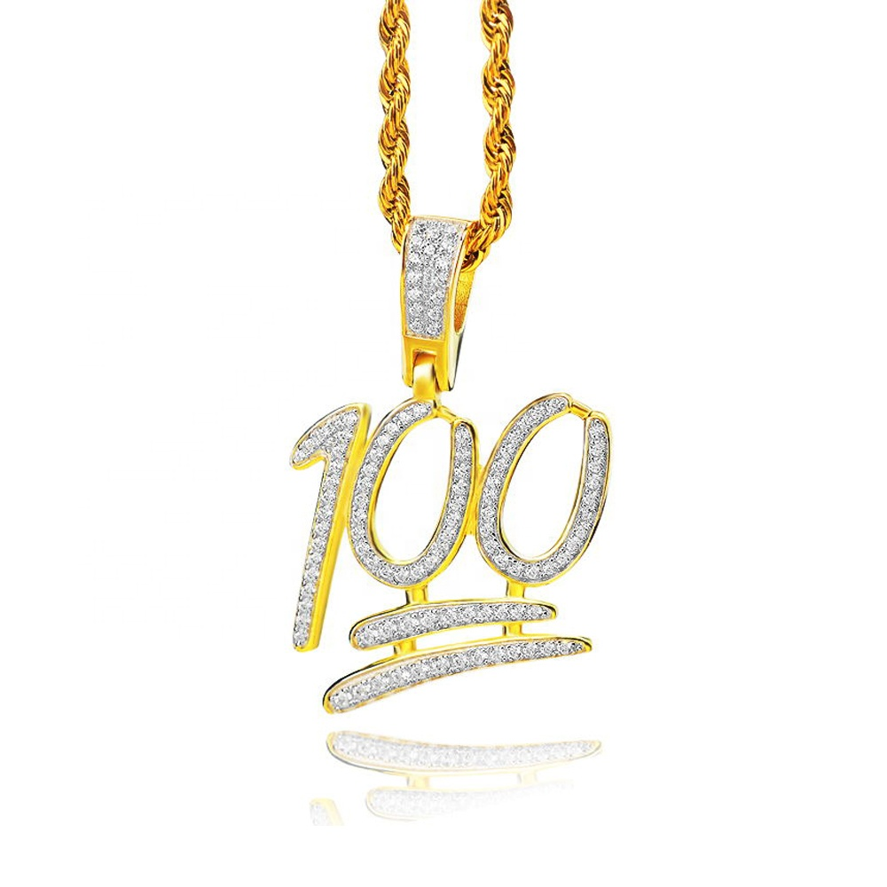 2020 del nuovo hip hop perfetto iced out cubic zirconia 100 del pendente