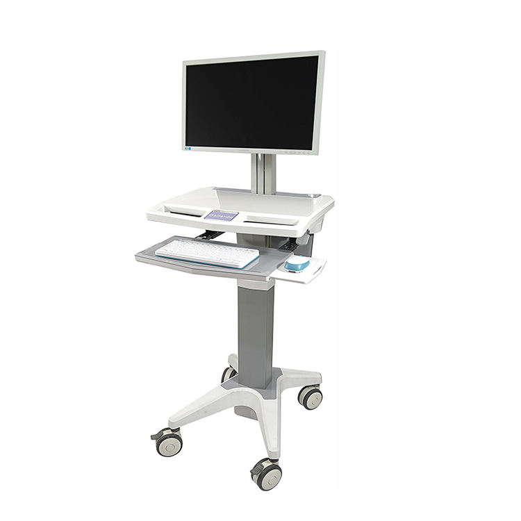 Mobile Workstation Medical Computer Cart Pflege Laptop Trolly