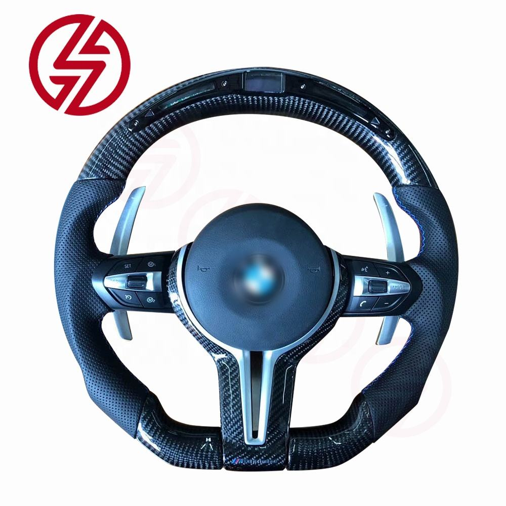 Customized LED leather universal carbon fiber steering wheel for BMW all series