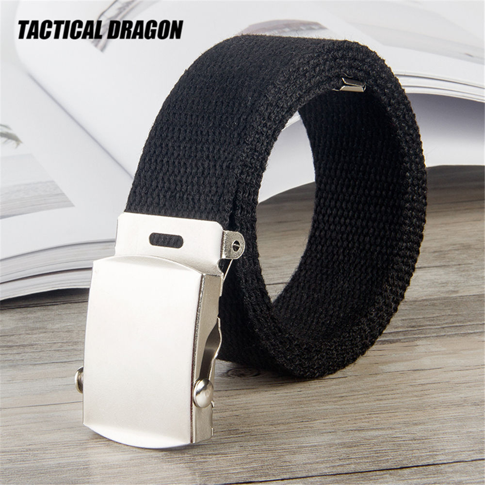 10 Color Trend Fashion Unisex Student Belt 25mm Thickened Rolling Buckle Canvas Belt Kids Belt