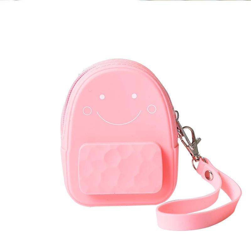 Fashion kids girls silicone cosmetic mini phone bag