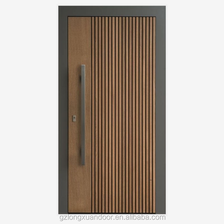 Modern door MDF hotel apartment luxury solid wood core interior wooden door for entry