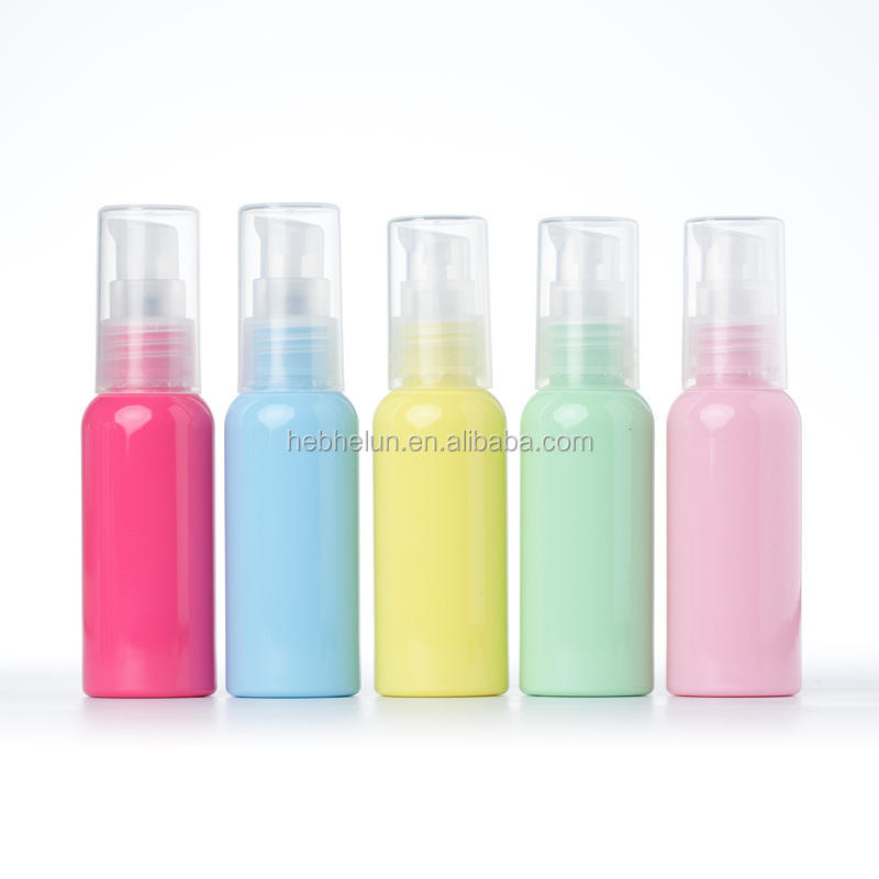 30ml 50ml Colorful PET Shampoo Conditioner Lotion Face Body Wash Travel Pump Bottle
