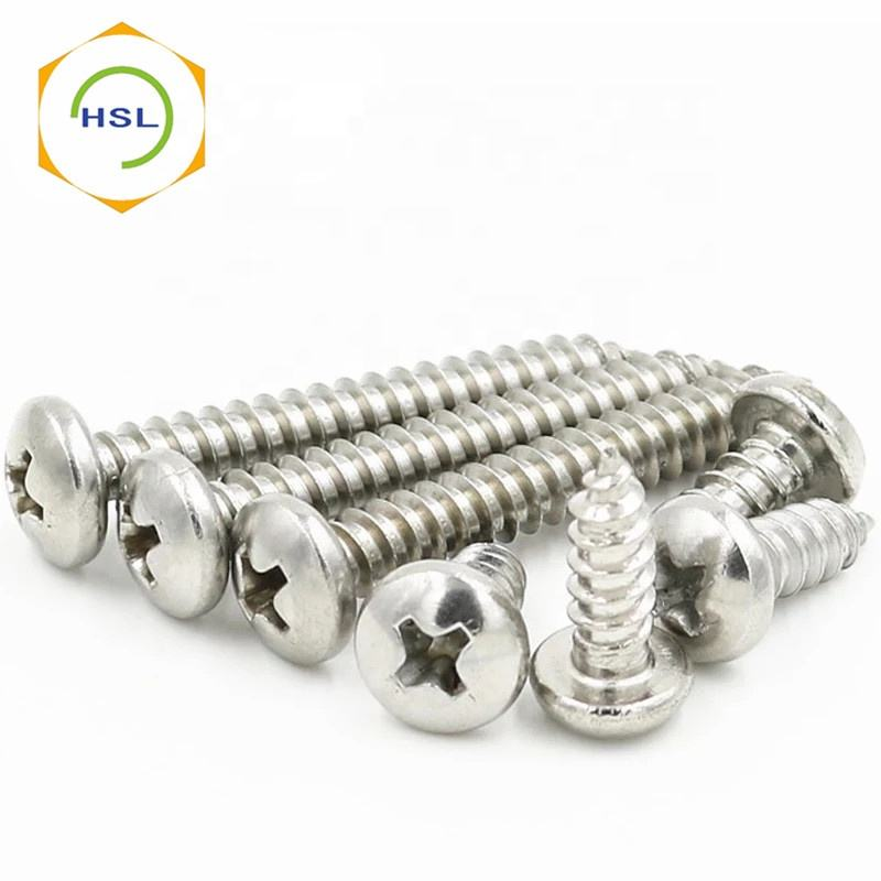 304 316 stainless steel Cross groove pan head self tapping screw