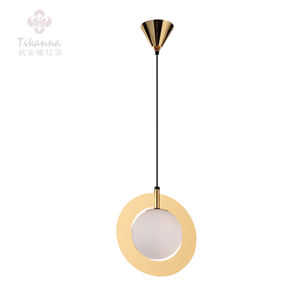 Única Luz Branca Globo de Vidro LED Metal Mini Pendant Light