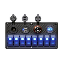 Carling Style Waterproof LED Marine Switch Panel in rocket white dual usb panel mount