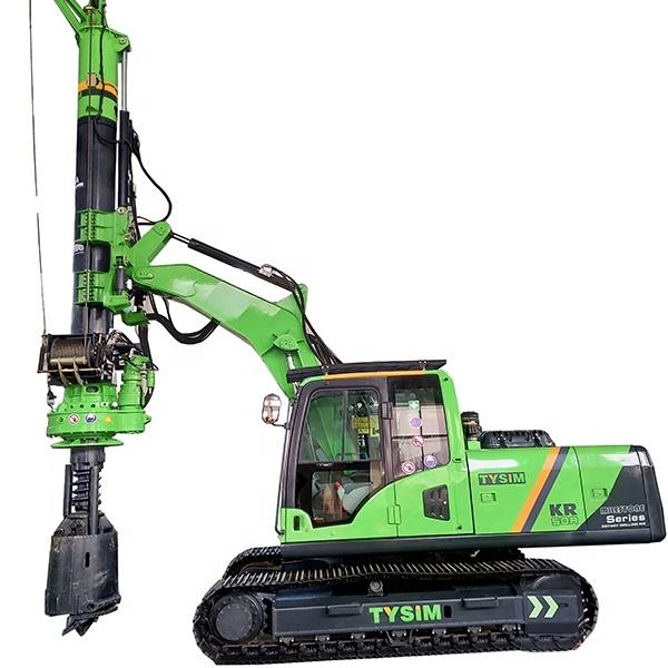 TYSIM mini hydraulic rotary drill machine piling rig KR50A underground drill rigs for top-rated machine