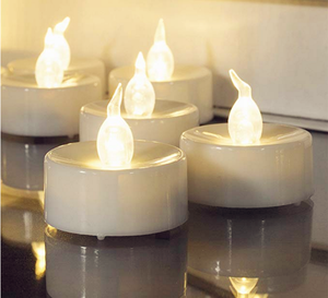 Home decoration cheap white LED candle festival party tealight