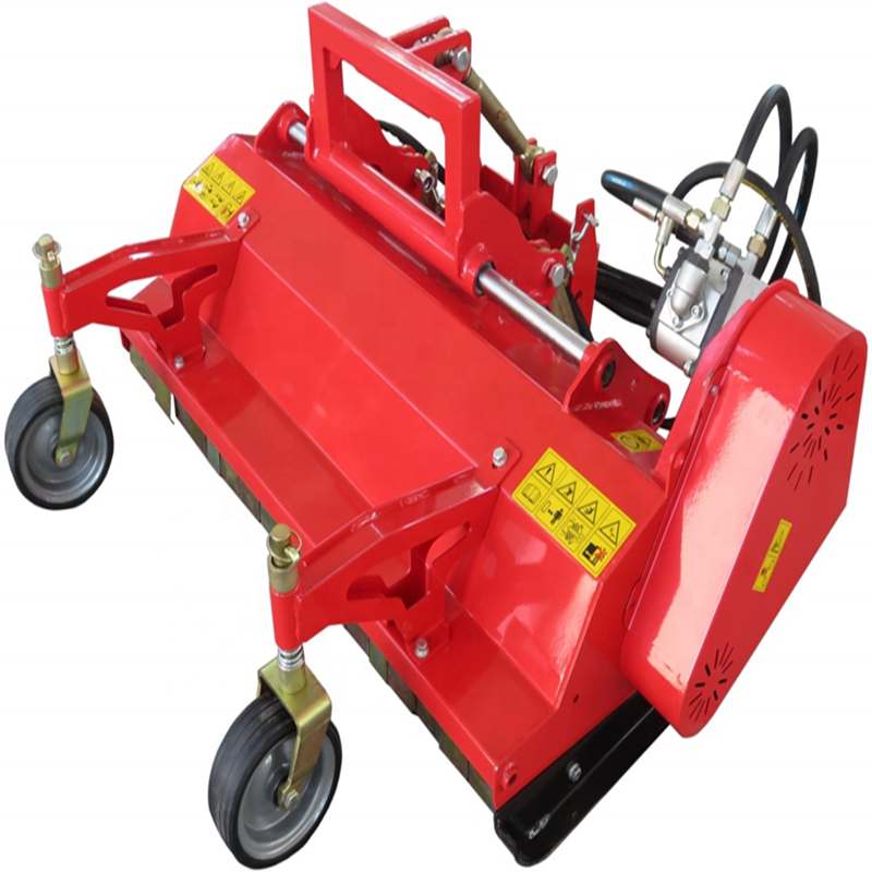 ATV walk behind hydraulic flail mower with side shift