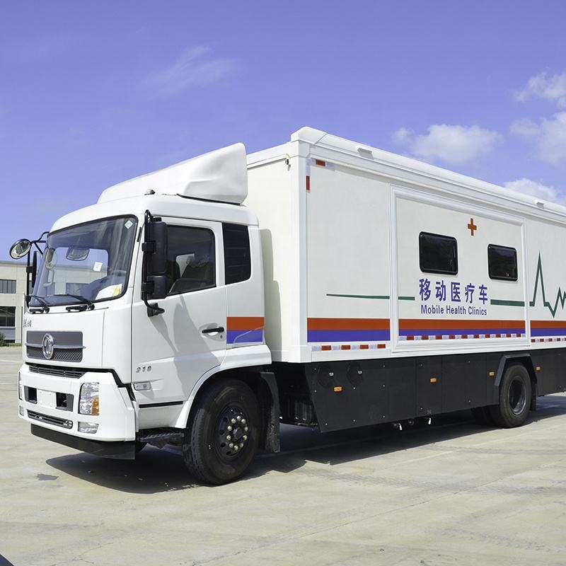 Safe mobile clinic bus for medical testing