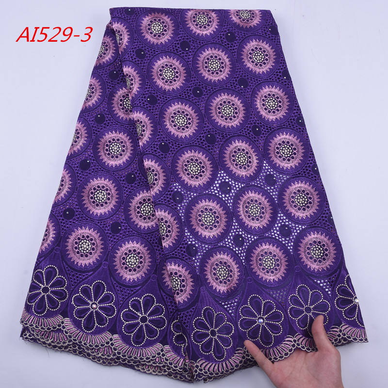 1791 Free Shipping 2019 African Swiss Lace High Quality Polish Dry Cotton Lace Fabric