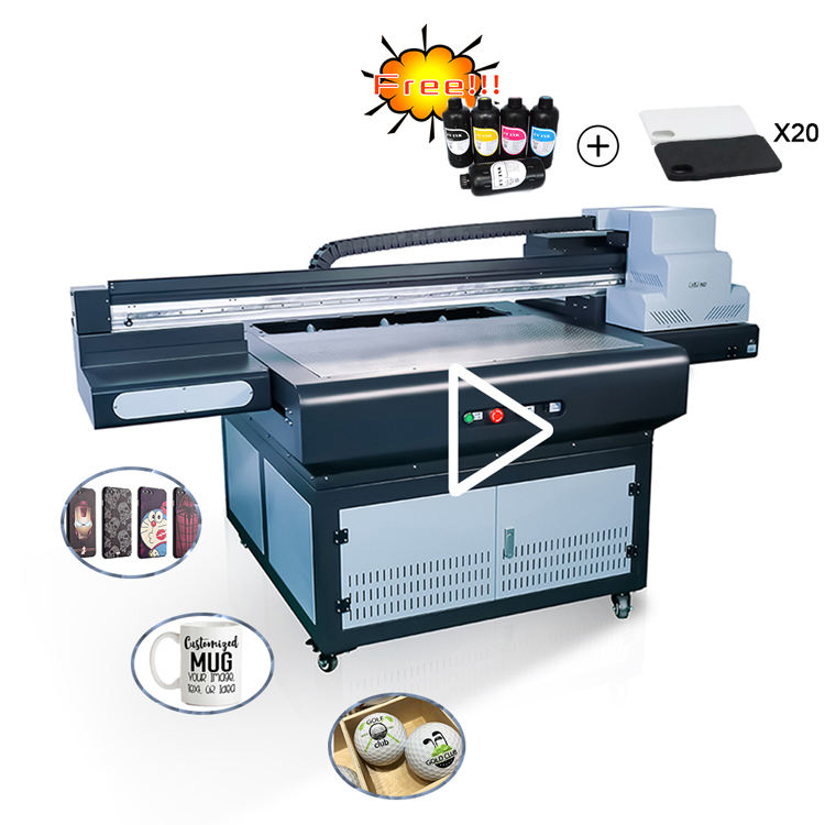 Regenboog digitale foam board drukmachine a1 uv led <span class=keywords><strong>printer</strong></span> flatbed voor verkoop