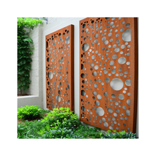 Perforated Corten Steel Laser Cut Decoration Wall Panel Corten Steel Garden Art Cladding Corten Steel Facade