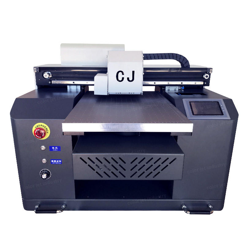 CJ Automatic Desktop UV Machine For Glass Bottle Wood Phone Case A3 UV Flatbed Printer