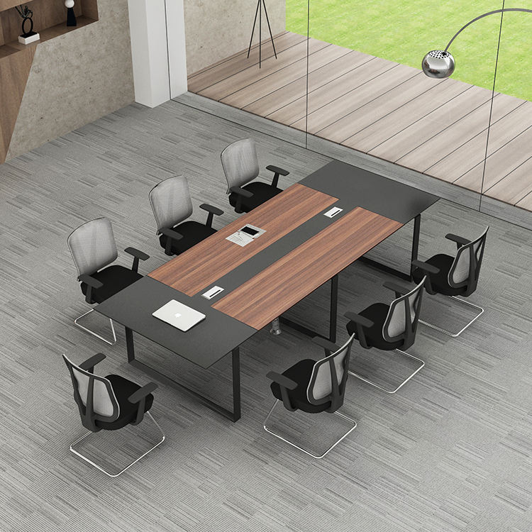 Meet&CO Meeting room Teak wood 8 person modern conference table