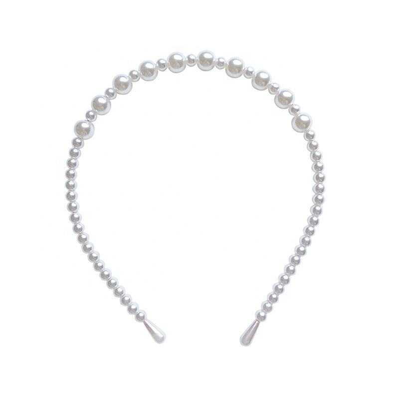 YDM New Women Simple Pearls Headband All-match Hair Bundle Girls Hair Band Fashion Accessories