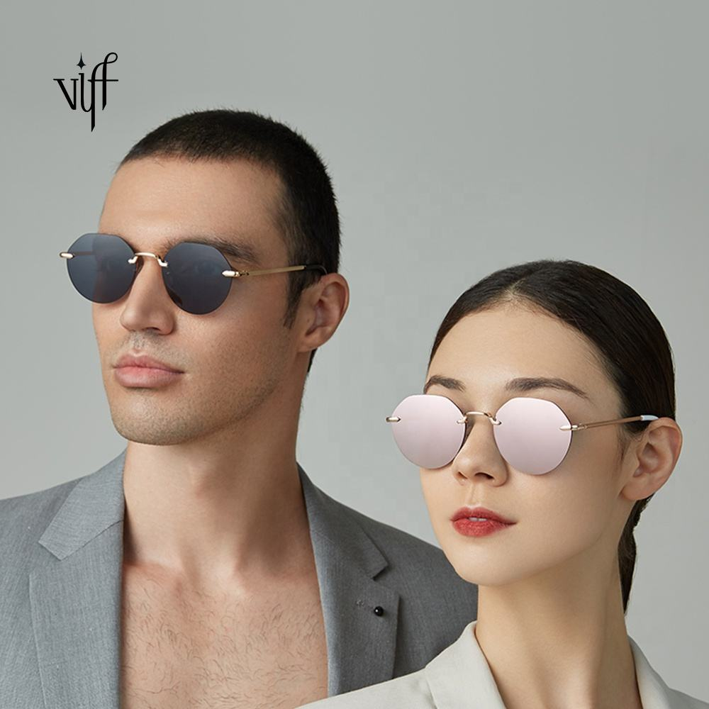 VIFF Rimless Sunglasses Diversified Latest Designs HM18256 Metal Frame Good Quality Unisex Sun Glasses