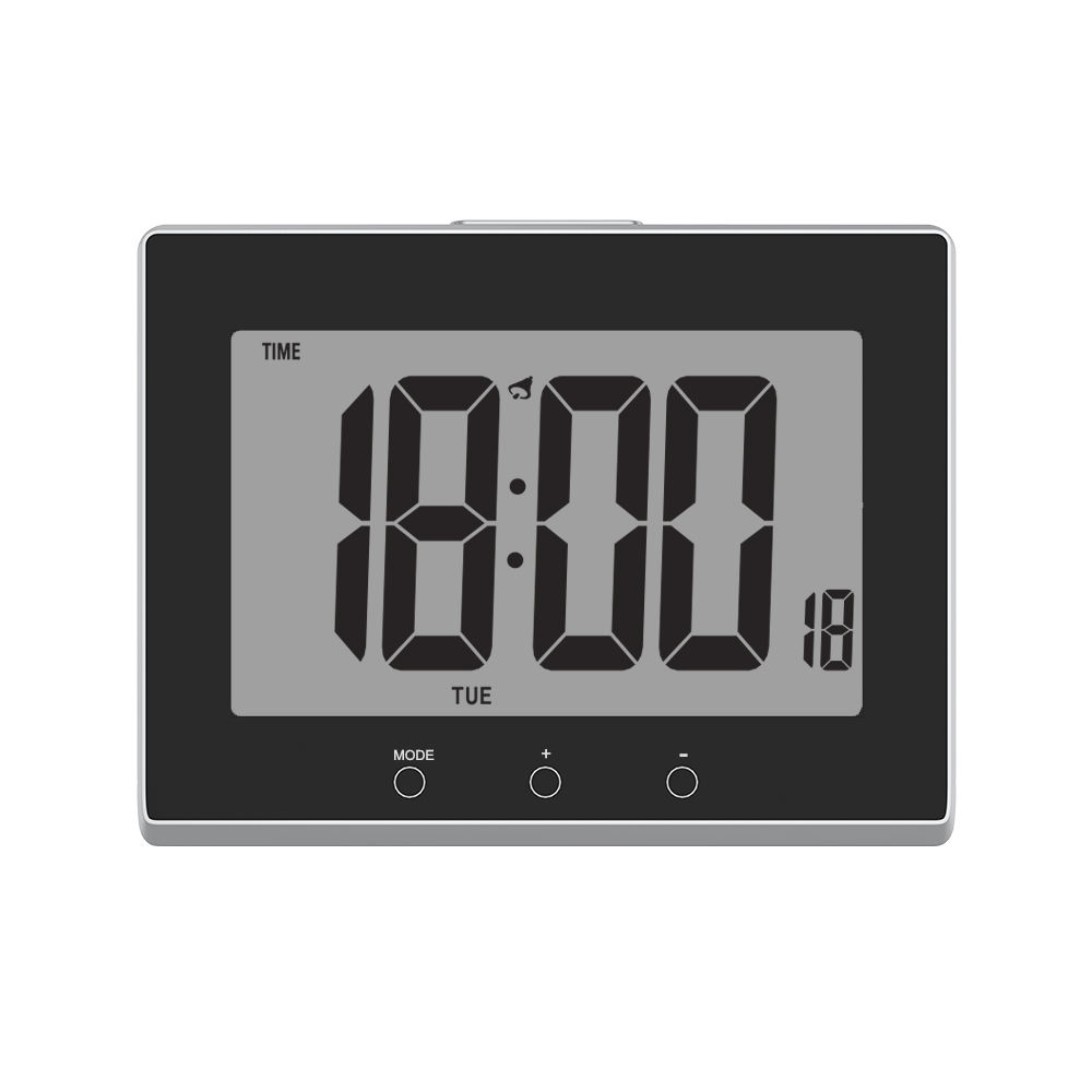 Large Screen Atomic Clock with 2 USB Charging Ports Alarm and Snooze Function
