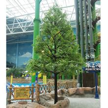 most realistic cheap fiberglass outdoor fir tree large fiberglass artificial landscaping evergreen metasequoia tree decor